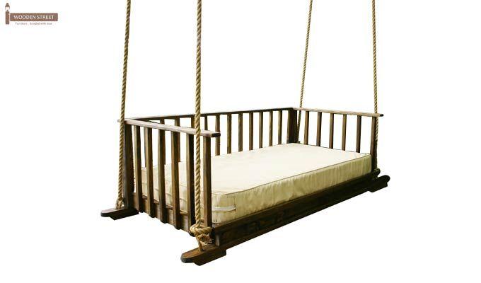 Eliza Wooden Swing Chair (Walnut Finish)-3
