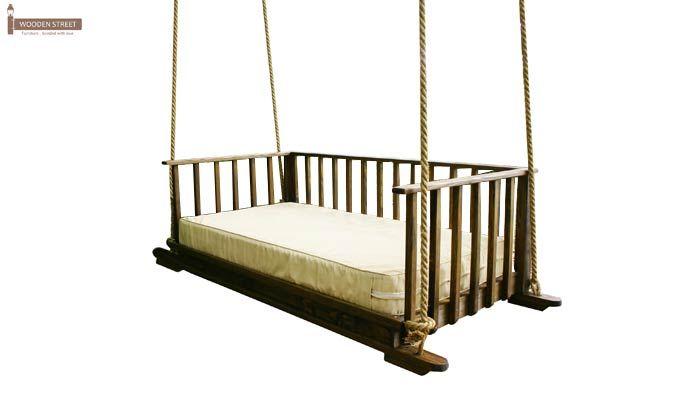 Eliza Wooden Swing Chair (Walnut Finish)-4
