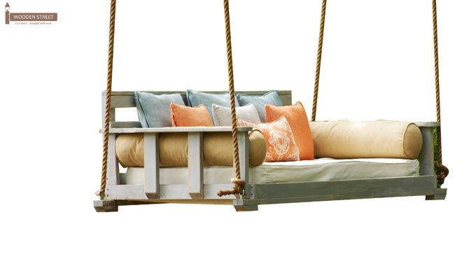 Herron Wooden Swing Chair(White Finish)-5