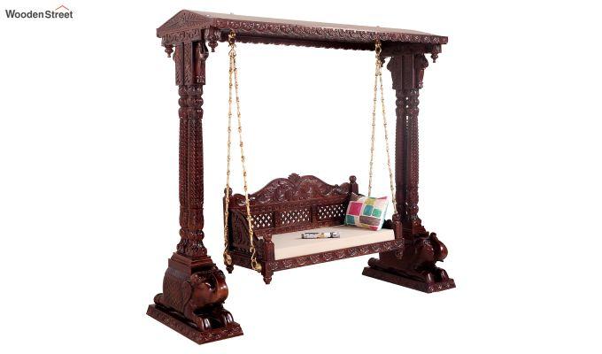 Maharaja Wooden Swing (Walnut Finish)-2