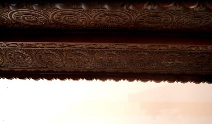 Maharaja Wooden Swing (Walnut Finish)-3