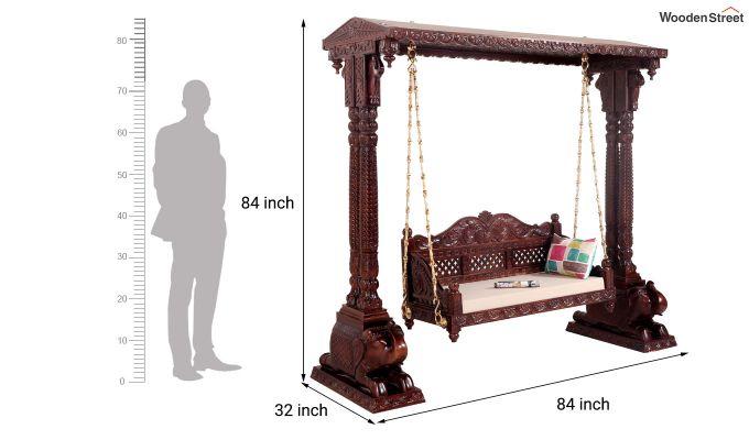 Maharaja Wooden Swing (Walnut Finish)-6