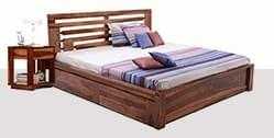 Bed with storage online from Wooden Street