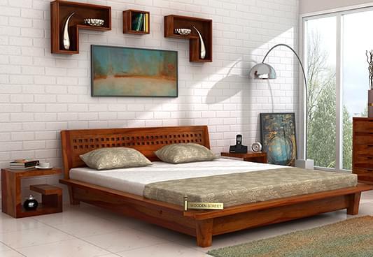 Buy Carden Low Floor Platform Bed King Size Honey Finish