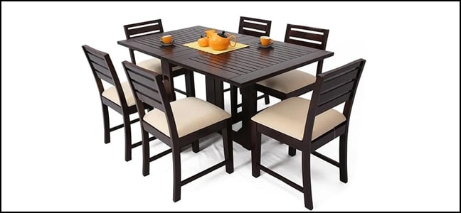 buy 6 seater dining table online