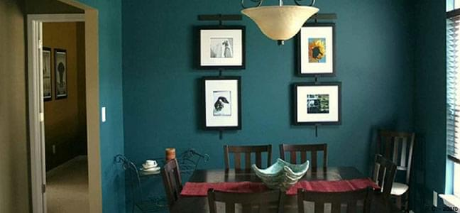Decor your dining area with the chevron artwork
