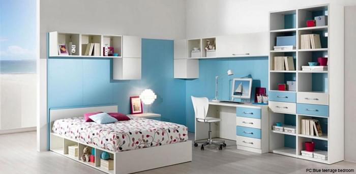 Boy Bedroom With Blue Color theme