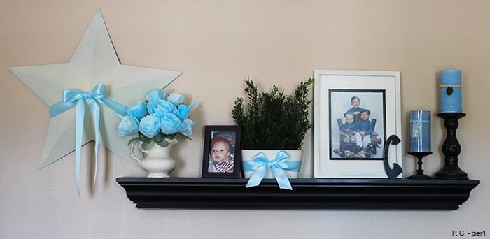 Wall Shelf having Photo Frames