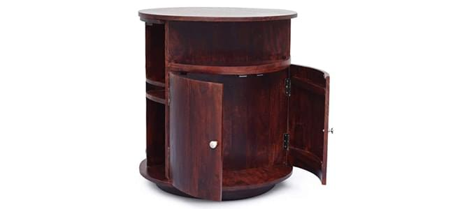 cylindrical bar cabinets