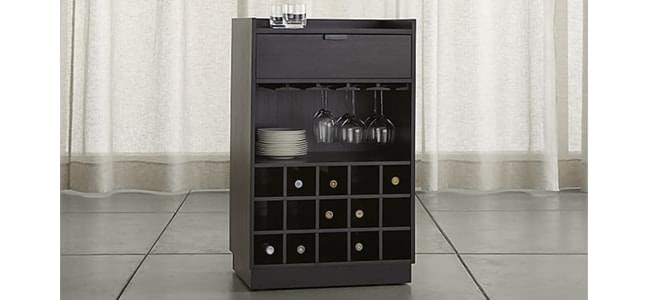 open wooden bar cabinets