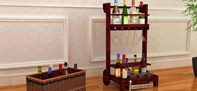 bar rack and trolleys