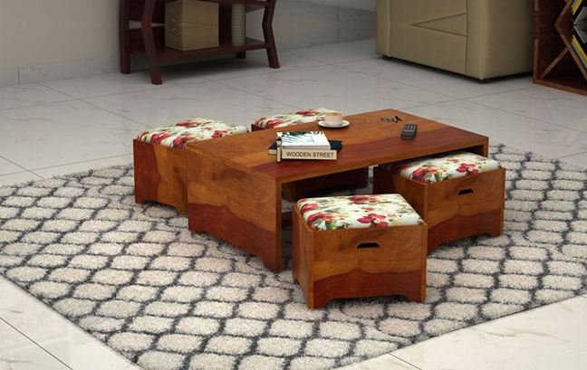 Buy Wooden Coffee Table Online in India
