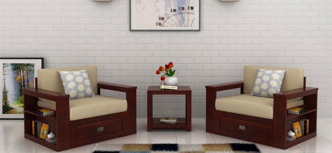 Buy Wooden Sofa Set Online In Bangalore Living Room Chairs Bangalore