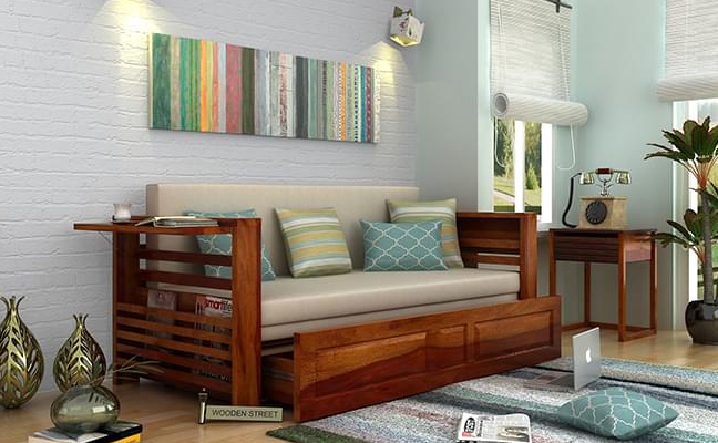 Buy Wooden Sofa Cum Bed Online in India