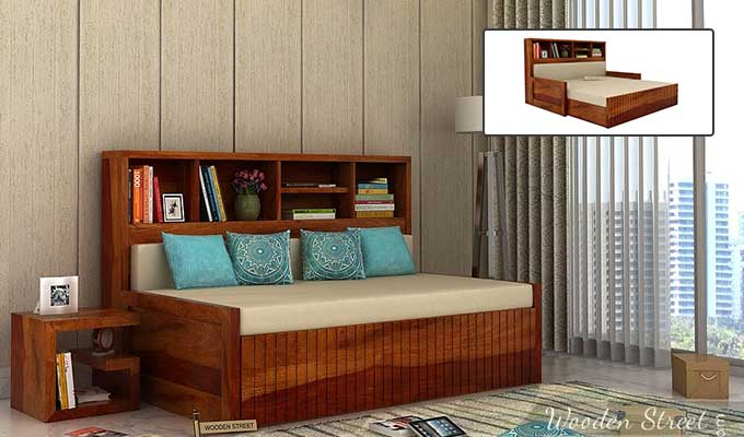 Buy Wooden Sofa Cum Bed Online in Chennai