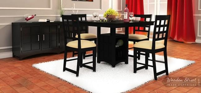 buy 4 seater dining tables for nuclear family