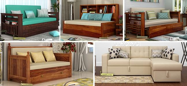 Sofa cum beds designs at woodenstreet