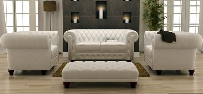 leatherette fabric sofa for royal look