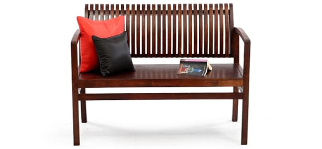 wooden benches in India
