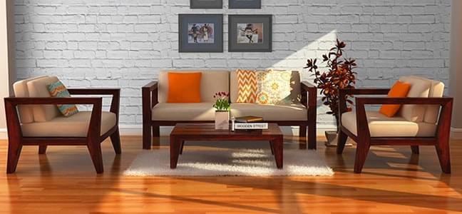 Wooden sofas online in india