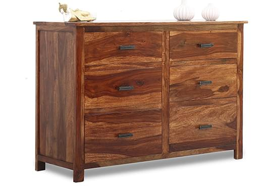 Buy Olympus Chest Of Drawer Teak Finish Online In India