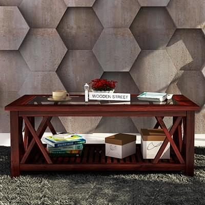 Buy Duarte Coffee Table Mahogany Finish Online In India