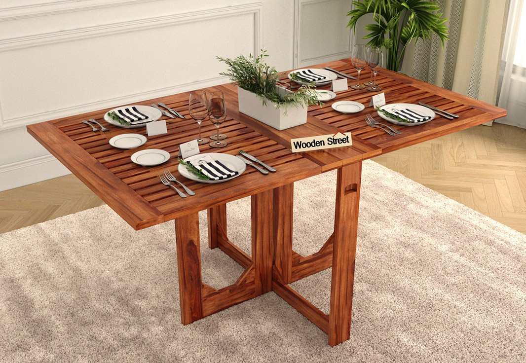 Buy Paul Foldable Dining Table Honey Finish Online In
