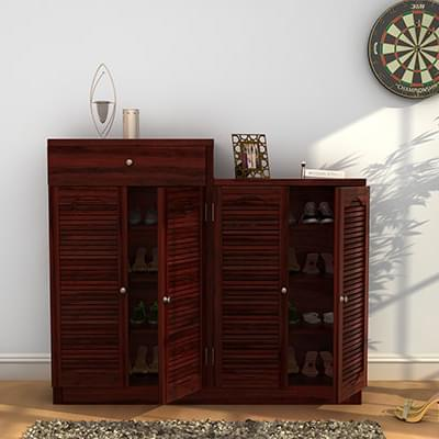 Buy Augur Shoe Rack Mahogany Finish Online In India