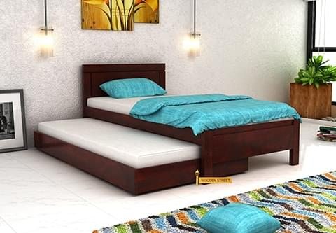 Buy Cristiano Trundle Bed Mahogany Finish Online In