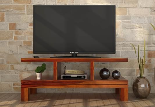 Buy Cornish Tv Unit Honey Finish Online In India