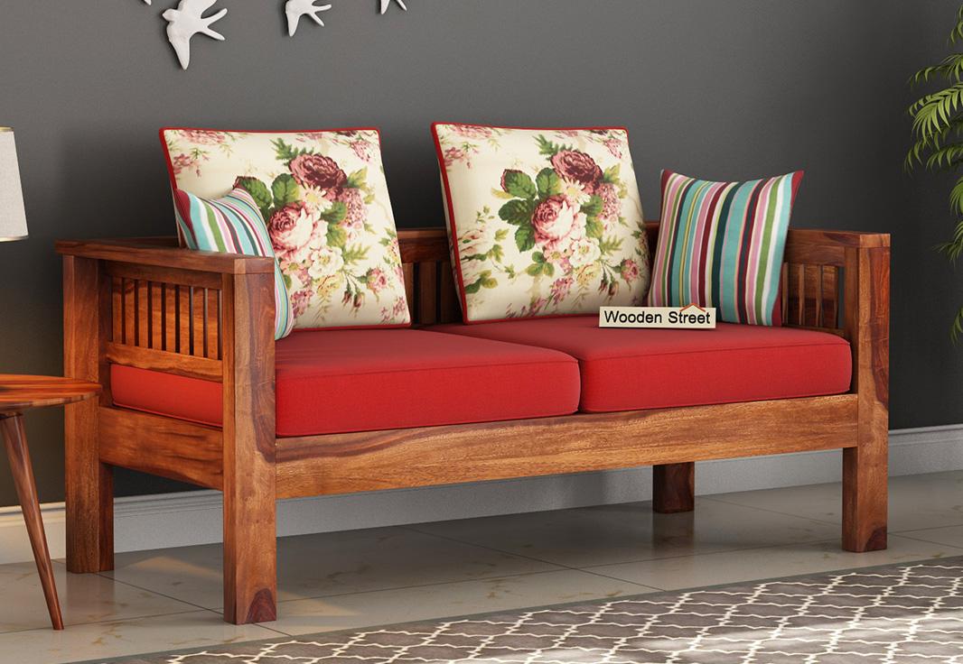 Buy Roman 2 Seater Wooden Sofa Online in India - Wooden Street