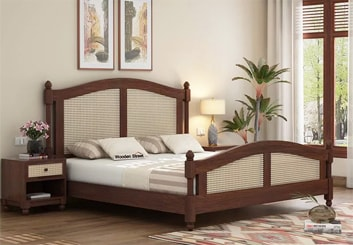 ... Bolivia Multi Storage Bed Queen Size Honey Finish ...