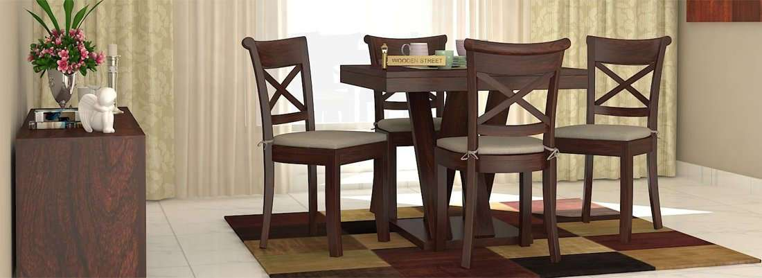 Shop Now; 4 Seater Dining Table Set