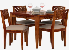 Cambrey 4 Seater Cushioned Dining Set