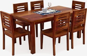 Janet 6 Seater Solid Wood DINING TABLE SETS