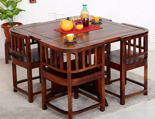 Dining table set online buy wooden dining table sets for Dinner table set for 4