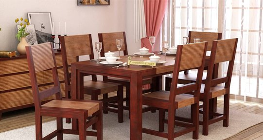 Dining table set online buy wooden dining table sets for Dining table set latest design