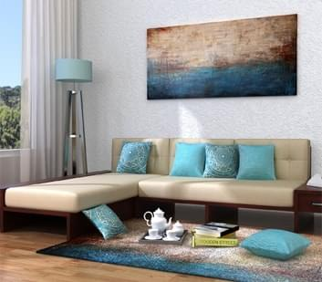 L shaped Corner Sofa. Buy Living Room Furniture Online India Starts   1 499   WoodenStreet