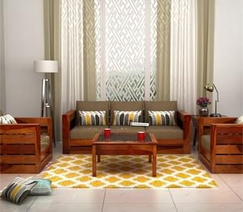 Fabric Sofa Sets 32  Options Wooden Sofa Sets. Buy Living Room Furniture Online India Starts   1 499   WoodenStreet